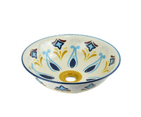 Керамическая раковина BronzeDeLuxe КОЗЕТТА BLUE 4366 голубой орнамент