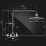 Душевая система Elghansa NEW WAVE ZETA 3707592-2A со стационарной ABS лейкой 200 мм, хром
