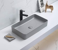 Керамическая раковина для ванной Ceramalux 78189MH-5 Светло-серый