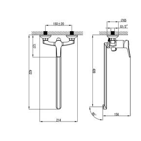 Смеситель для ванны Milardo Enisey с длинным изливом ENISBLCM10