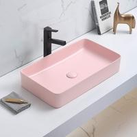 Керамическая раковина для ванной Ceramalux 78189MP-3 розовый