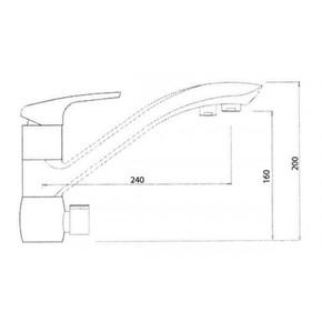 Смеситель для кухни под фильтр KAISER Venus 39066-5 Silver