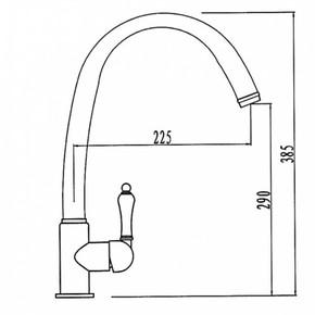 Смеситель для кухни KAISER Vincent 31333-9 Black Satin