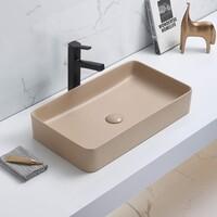 Керамическая раковина для ванной Ceramalux 78189MC-1 Капучино
