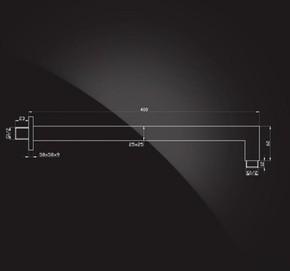 Кронштейн для верхнего душа 400х25х25 мм Elghansa CR-09 хром