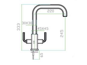 Смеситель для кухни Zorg LEVOS-D SZR-0909D