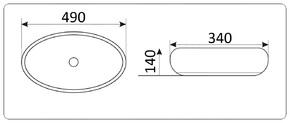 Керамическая раковина CeramaLux NC 433-1