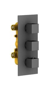 Душевая система скрытого монтажа с термостатом Timo Tetra-Thermo SX-0199/03SM Черный