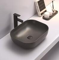 Керамическая раковина для ванной Ceramalux 78104MDH-2 Серый