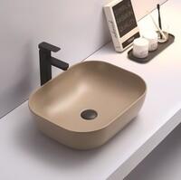 Керамическая раковина для ванной Ceramalux 78104MC-1 Капучино