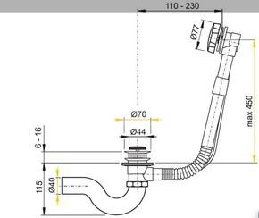 Обвязка для ванны Timo 8004 Золото