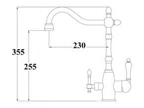 Смеситель под фильтр Zorg ZR 312 YF-33-NICKEL