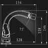 Смеситель Elghansa NEW WAVE ZETA 4907592 для биде двухвентильный, хром