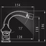 Смеситель Elghansa NEW WAVE DELTA 4907593 для биде двухвентильный, хром