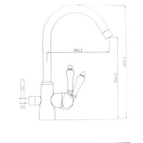 Смеситель для кухни под фильтр KAISER Vincent 31744-4 Sandbeige