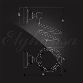 Держатель фена Elghansa CARRINGTON CRG-890-New , хром