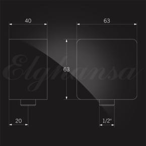 Elghansa SHOWER HOSE OUTLET WS-7M подключение для душевого шланга 1/2, хром