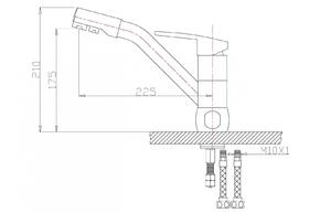 Смеситель под фильтр ZORG ZR 400 KF-47-BR