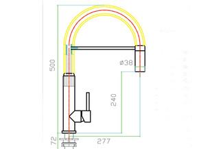 Смеситель для кухни с вытяжной лейкой Zorg SZR-2141 MASTER