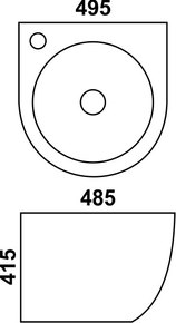 Керамическая раковина Melana MLN-500FBW