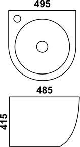 Керамическая раковина Melana MLN-500FYW