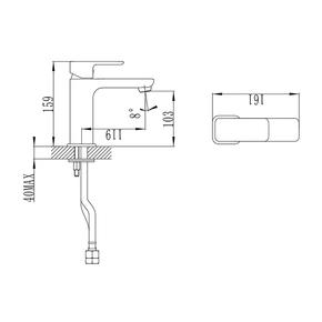 Смеситель для умывальника Iddis Brick BRISB00i01