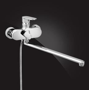 Смеситель Elghansa PLATEA 5301102 одноручковый для ванной с душевым комплектом, хром