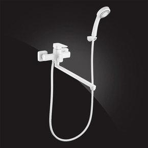 Смеситель Elghansa MONDSCHEIN 5302235 white для ванны однорычажный с душевым комплектом