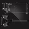 Смеситель Elghansa SCARLETT NEW 5322245 для ванны однорычажный с душевым комплектом, хром