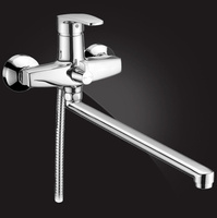 Смеситель Elghansa MONICA CHROME 5322319 для ванны однорычажный с душевым комплектом, хром