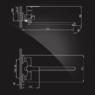 Смеситель Elghansa WELLESLEY 5344844 для ванны однорычажный с душевым комплектом, хром