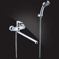 Смеситель Elghansa HEZERLEY 5365246 для ванной однорычажный с душевым комплектом, хром