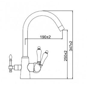 Смеситель для кухни под фильтр KAISER Vincent 31744-5 Silver