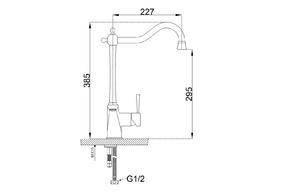 Смеситель для кухни под фильтр ZORG ZR 353 YF SATIN
