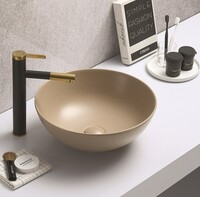 Керамическая раковина для ванной Ceramalux 104MC-1 Капучино
