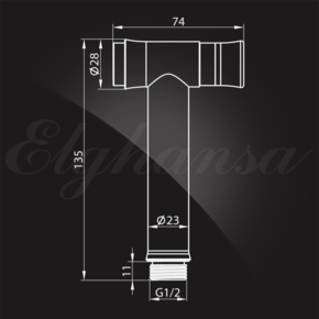 Гигиенический душ Elghansa SHOWER SPRAY BM-08C (Set-120) для биде с держателем и шлангом, хром