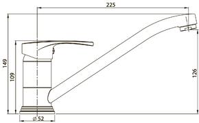 Смеситель Elghansa ECOFLOW ALPHA 5600207 для кухни однорычажный, хром