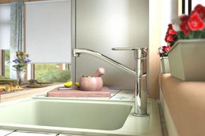 Смеситель Elghansa ECOFLOW BETA 5650205 для кухни однорычажный, хром