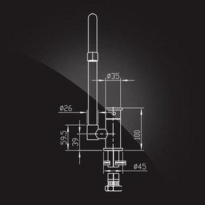 Смеситель Elghansa ECOFLOW ALPHA 5650307 для кухни однорычажный, хром