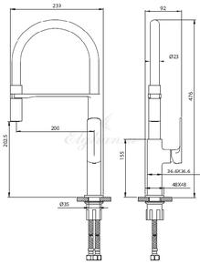 Смеситель Elghansa HEFFEN 5653520 для кухни однорычажный,хром