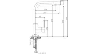 Смеситель для кухни под фильтр Elghansa 5698224,хром