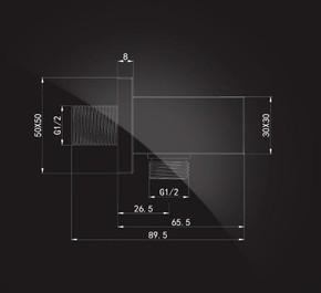 Подключение для душевого шланга Elghansa WS-16, хром