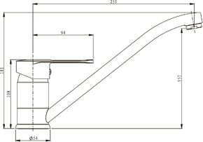 Смеситель Elghansa ECOFLOW ALPHA 56A0103 для кухни однорычажный, хром