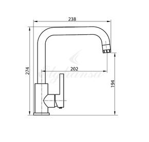Смеситель Elghansa CLIQ 56A1024-2 для кухни однорычажный, хром