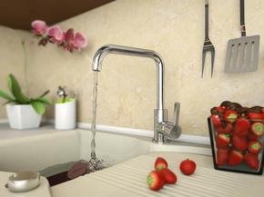 Смеситель Elghansa CLIQ 56A1024 для кухни однорычажный, хром