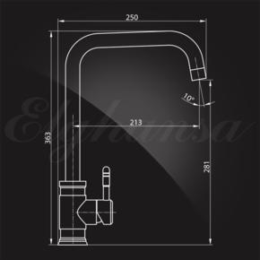 Смеситель Elghansa STAINLESS STEEL 56A4548-Steel для кухни однорычажный, нержавеющая сталь