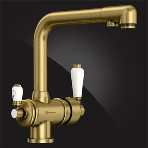Смеситель Elghansa KITCHEN Pure Water 56A5740-Bronze для кухни (для фильтра), бронза