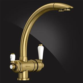 Смеситель Elghansa KITCHEN Pure Water 56A5840-Bronze для кухни (для фильтра), бронза
