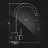 Смеситель Elghansa STAINLESS STEEL 56B4031-Steel для кухни однорычажный, нержавеющая сталь