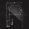 Смеситель Elghansa STAINLESS STEEL 56B4548-Steel для кухни однорычажный, нержавеющая сталь